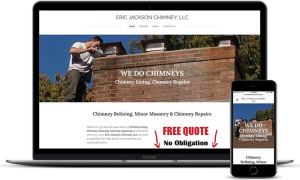 Eric Jackson Chimney services website Burlington, CT