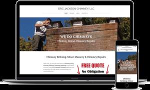 Eric Jackson Chimney services website Burlington, CT
