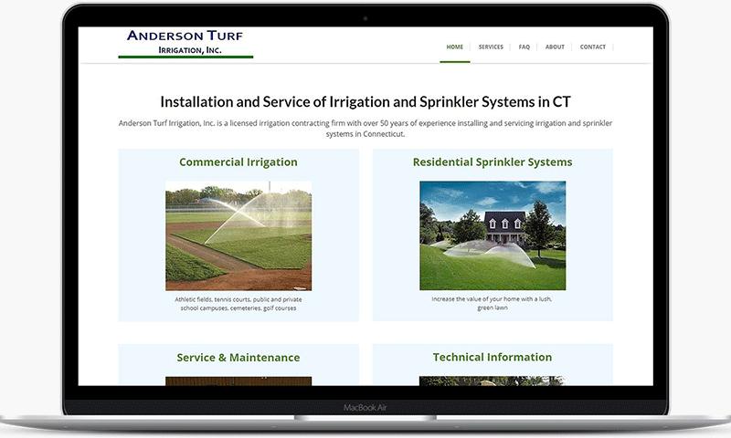 Anderson Turf Irrigation website image