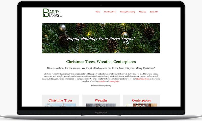 Barry Farms tree farm website - Harwinton, CT