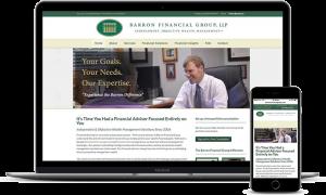 Barron Financial Group's financial website