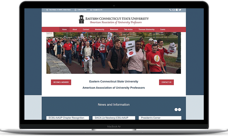 Teachers union website of the ECSU-AAUP