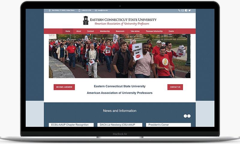 Teachers union website of the ECSU-AAUP