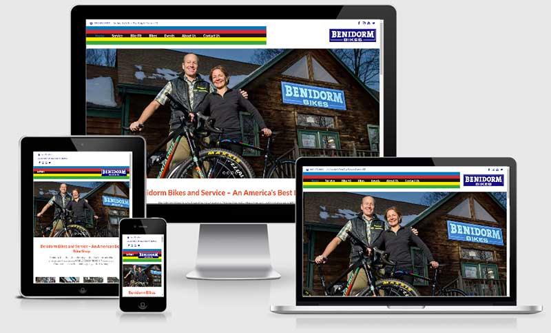 Benidorm Bikes in Canton, Connecticut bike shop website