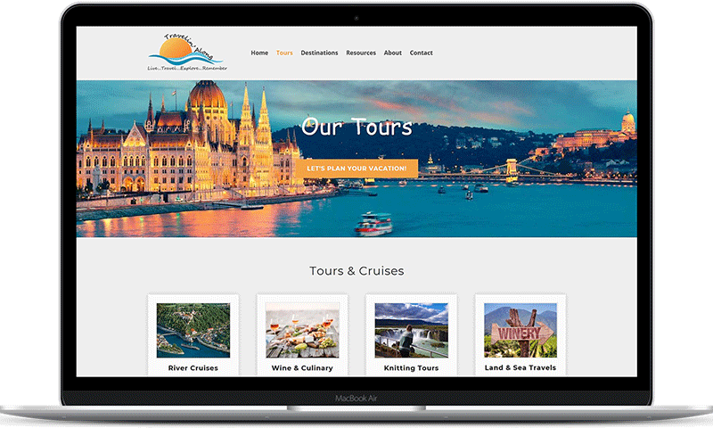 Travelin' Along travel agent website