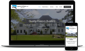 Custom home builders website for Lepore & Sons in Burlington, CT
