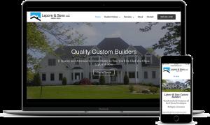 Custom home builders website for Lepore & Sons in Burlington, CT