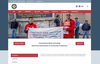 Connecticut State University - American Association of Union Professors website home page