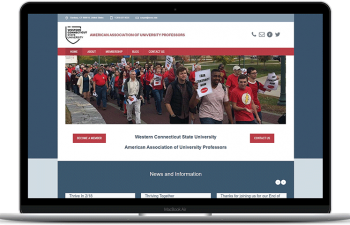 Western Connecticut State University - American Association of Union Professors website home page WCSU-AAUP