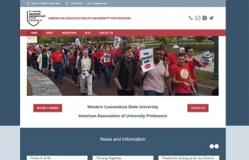 Western Connecticut State University - American Association of Union Professors website home page